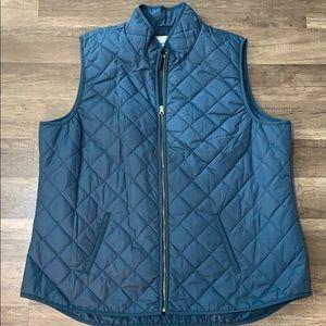 Old Navy - Women's Puff Vest- Turquoise- XXL